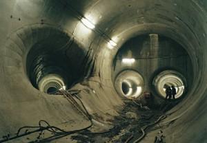 The underground tunnels
