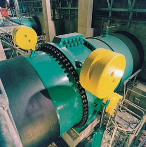 Dinorwig has six of these giant pump-turbines