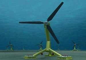 Illustration of projected Hammerfest Strøm 1MW tidal turbine