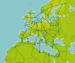Map showing potential Supergrid connections