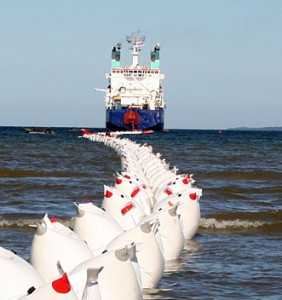 HVDC cable laying at sea. Photo: ABB