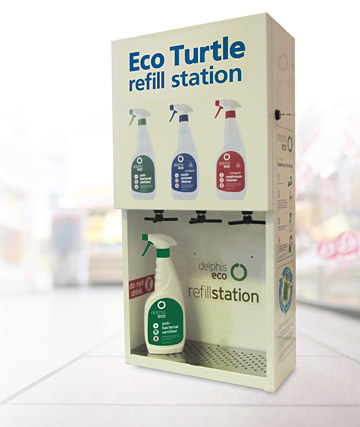 Eco Turtle cleaning products dispenser