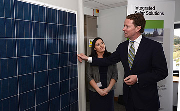 Energy Minister Greg Barker officially opens the BRE National Solar Centre, Cornwall; photo courtesy BREWatford
