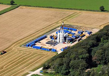 Aerial view of Balcombe Fracking site. Photo Frack-Off
