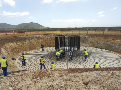 In Construction: Jeffreys Bay wind farm (138MW), South Africa Photo: Jeffreys Bay and South Africa Build