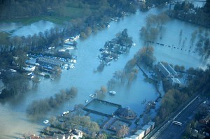 Henley  from the air. Photo The Environment Agency