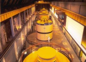 The underground turbine hall