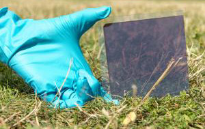 Perovskite solar panel. photo by Boshu Zhang, Wong Choon Lim Glenn & Mingzhen Liu