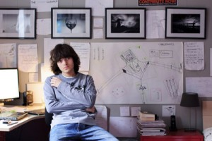 Boyan Slat at 16 with his designs