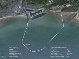 Illustration of possible configuration of tidal lagoon