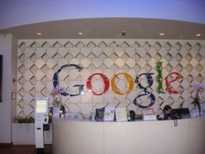 Inside a google building