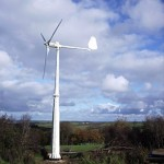The farm's 5KW wind turbine