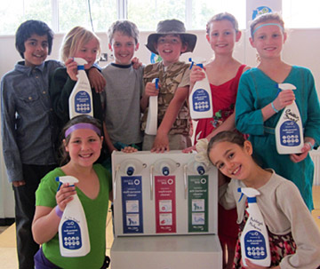 Ashley School pupils who helped develop the Eco Turtle dispenser