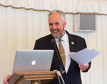 David Green speaking at the House of Commons during the launch of the Ecoisland Energy Company