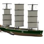 Model of B9 ship