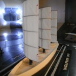 B9 ship design in a wind tunnel at Southampton University
