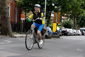Older riders would feel safer if they were separated from traffic. Photo by Julian Jackson.