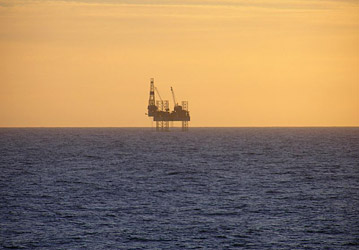 Minke Oil Field Platform. Photo by Tom Jervis