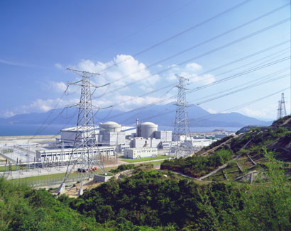 Ling Ao Nuclear Power Plant in China. Photo Areva