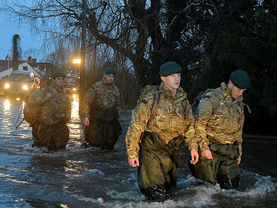The army had to be called in to assist. Photo RN